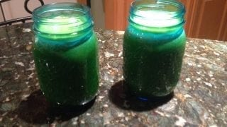 Delicious kale and carrots Green juice
