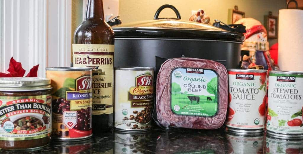 Crock Pot hamburger soup ingredients