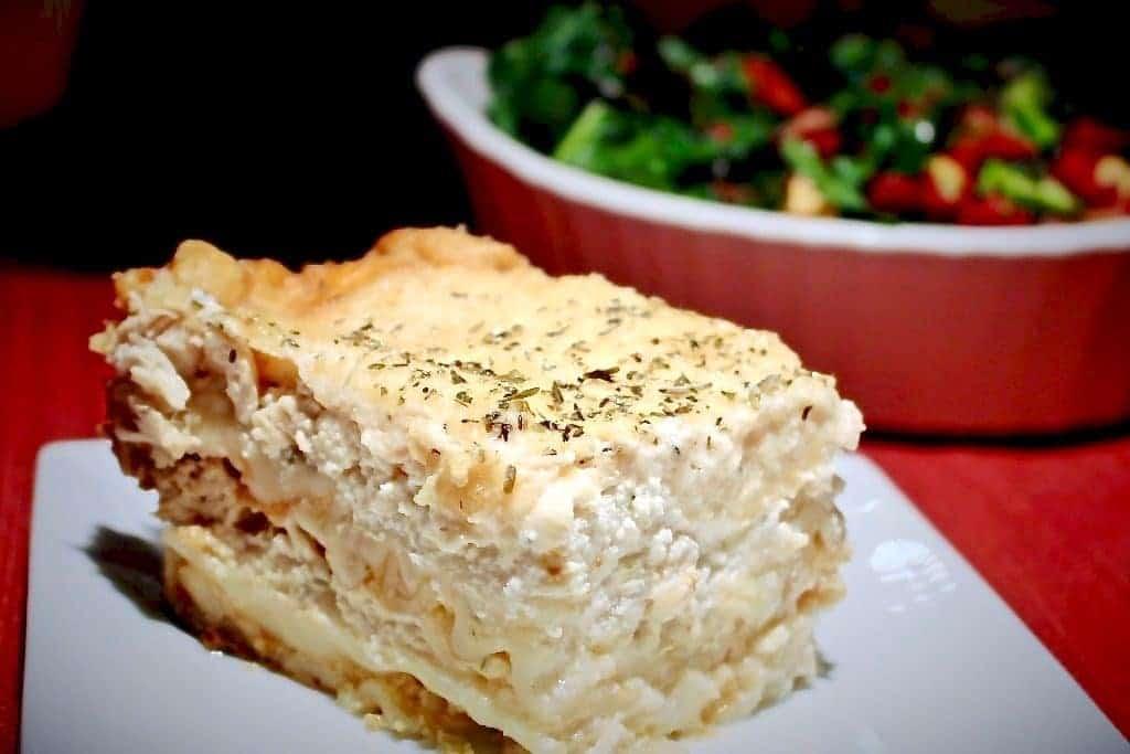 crock pot chicken lasagna http://HomemadeFoodJunkie.com