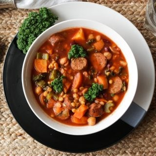 Lentil Sausage Soup-Slow cooker & Instant Pot Instructions