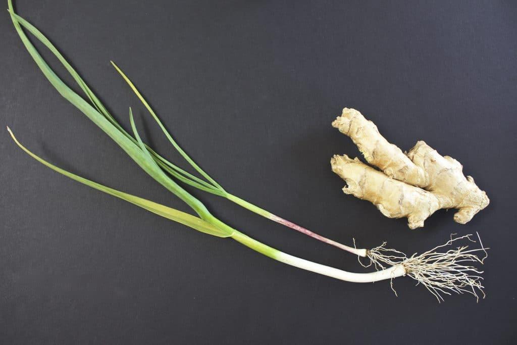 Garlic shallot and ginger