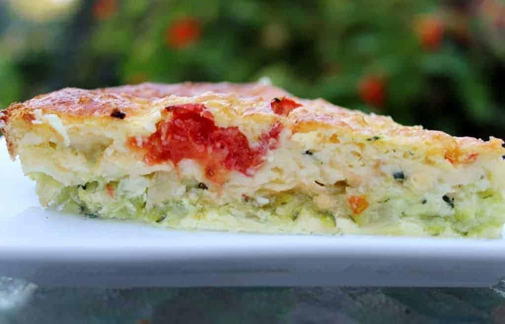 Zucchini Veggie Quiche Recipe