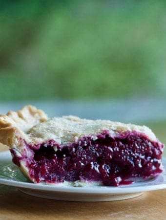 Blackberry Pie with a coconut oil crust