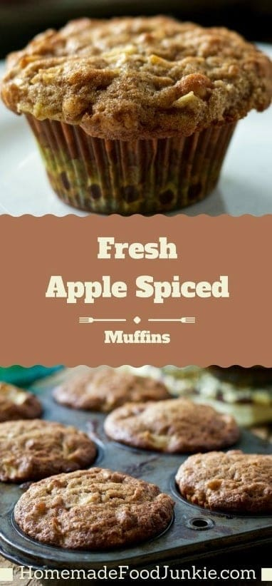 Fresh apple spice muffins Make these incredible muffins from scratch with real apples, walnuts and fresh ginger. No boxed mixes compare to these. Great for breakfast, snacks and grab food anytime! #muffins #apple #freshapple #breakfast #snacks