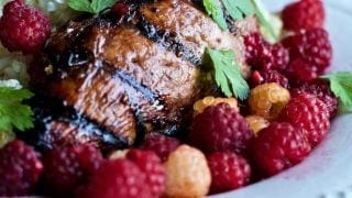 Grilled Chicken with Fresh Raspberry Marinade