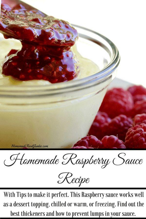 Homemade Raspberry Sauce Recipe