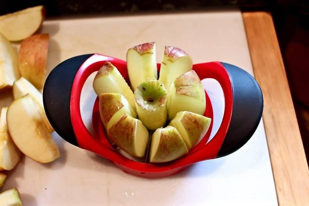 Apple Corer for cutting apples for caramel apple pie