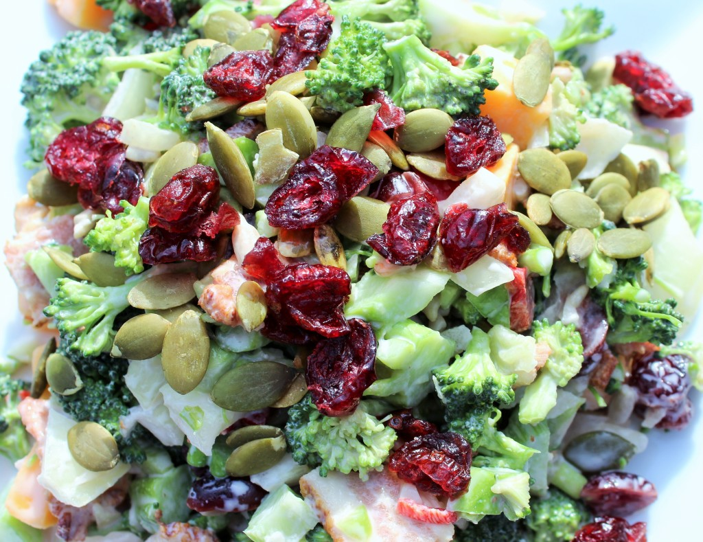 Bacon Cheddar Broccoli Salad-Homemade Food Junkie