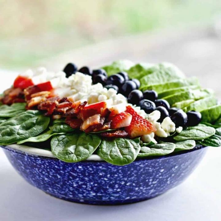 Spinach Avocado Bacon Salad