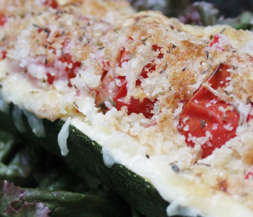 Vegetarian Italian Stuffed Zucchini Boats