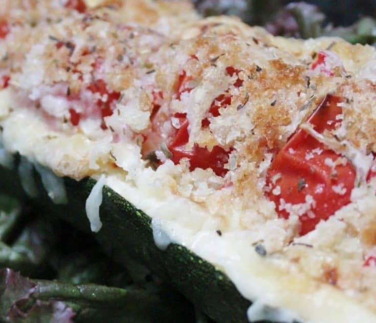 Healthy Vegetarian Italian Stuffed Zucchini Boats