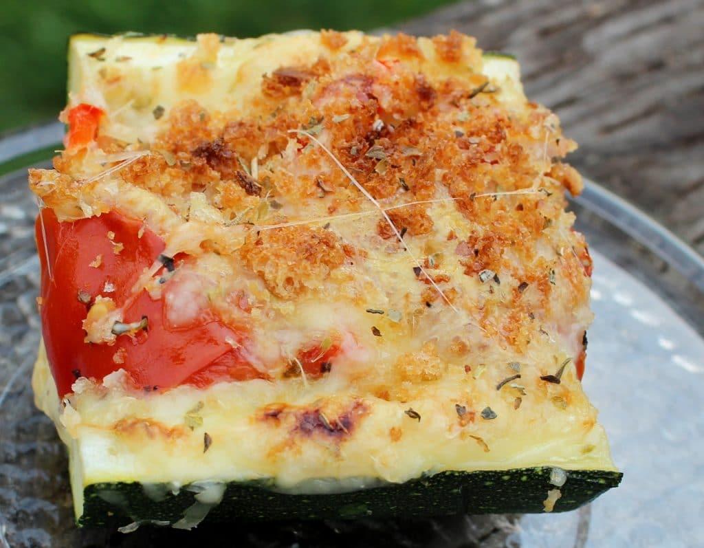 Vegetarian Italian Stuffed Zucchini