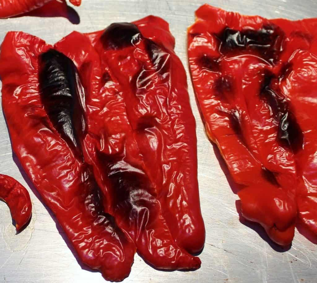 roasted krimson lee peppers
