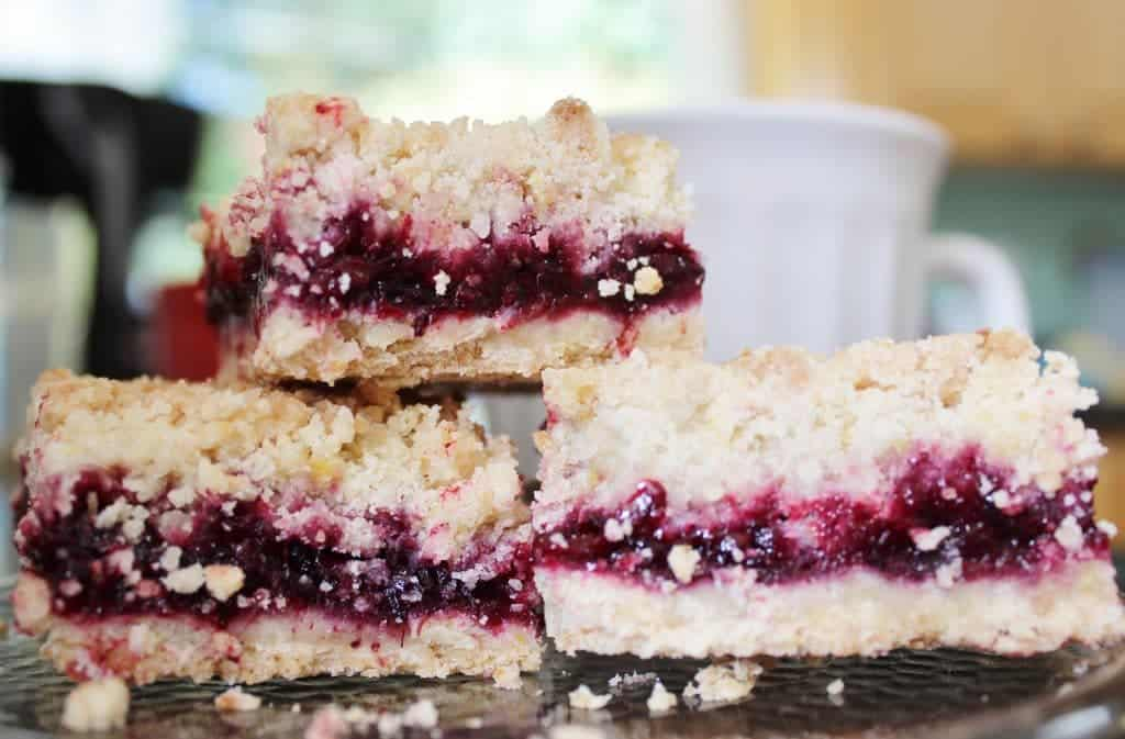 Blackberry coconut Oil Crumb Bars with healthy fats Http://HomemadeFoodJunkie.com