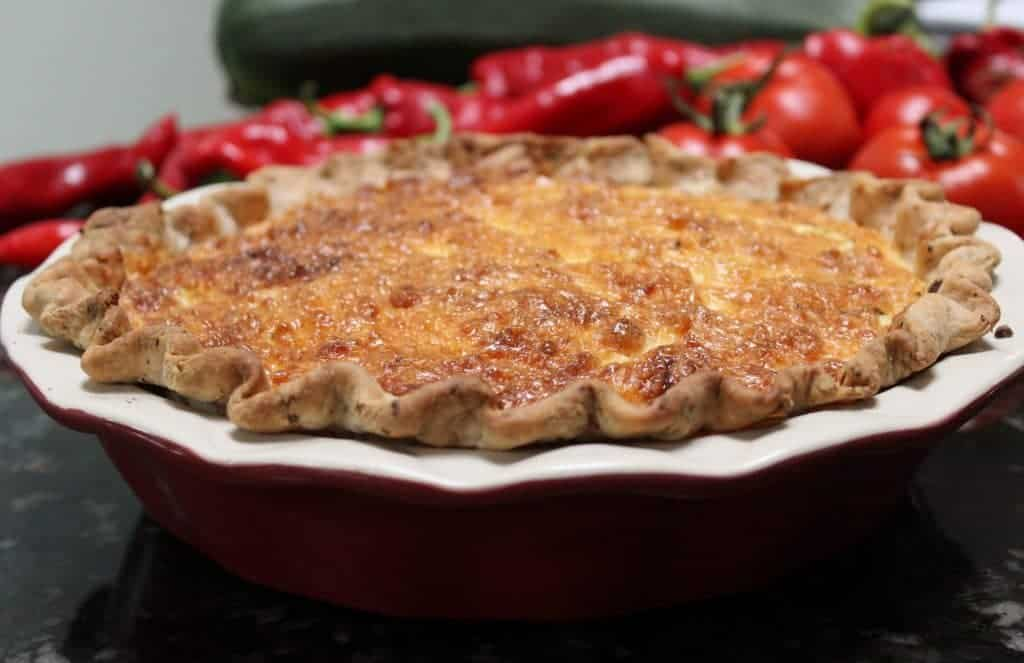 Garden Pie with herbed Crust