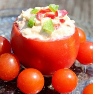 Tuna Tomato Cups with Chicken Spread Recipe http://homemadefoodjunkie.com