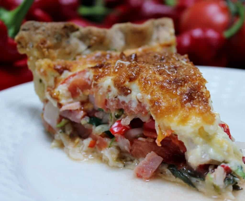 Delicious Garden Harvest Pie what a great way to use up your veggies! This makes an all in one plate dinner.