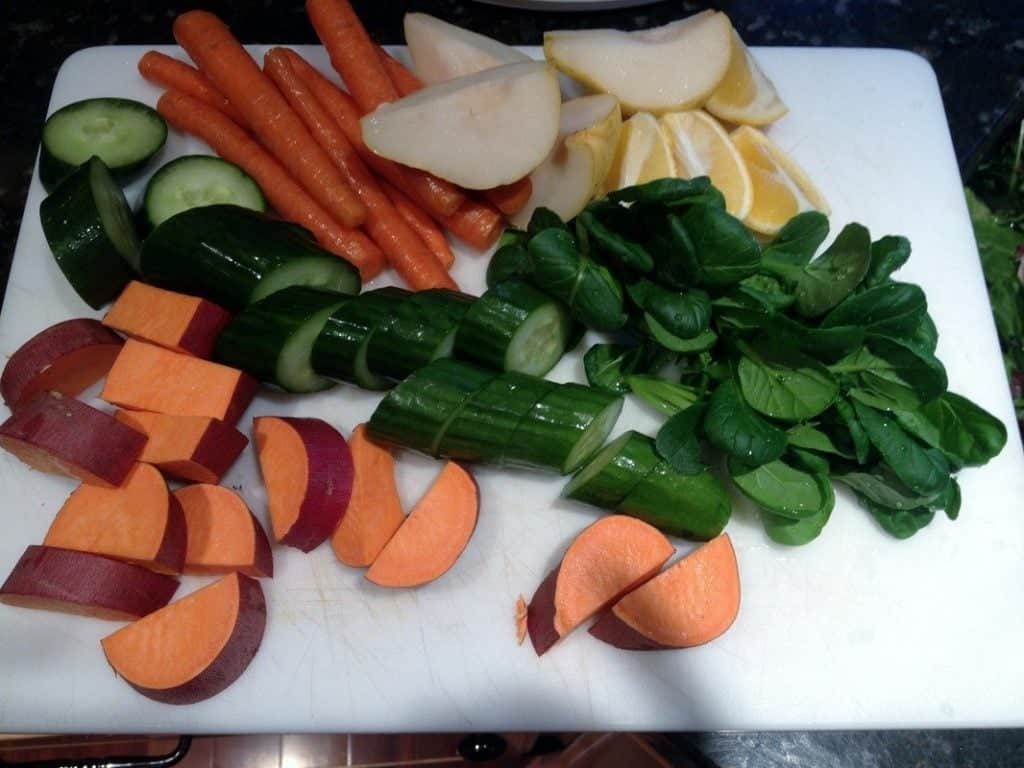 the process of juicing requires some chopping