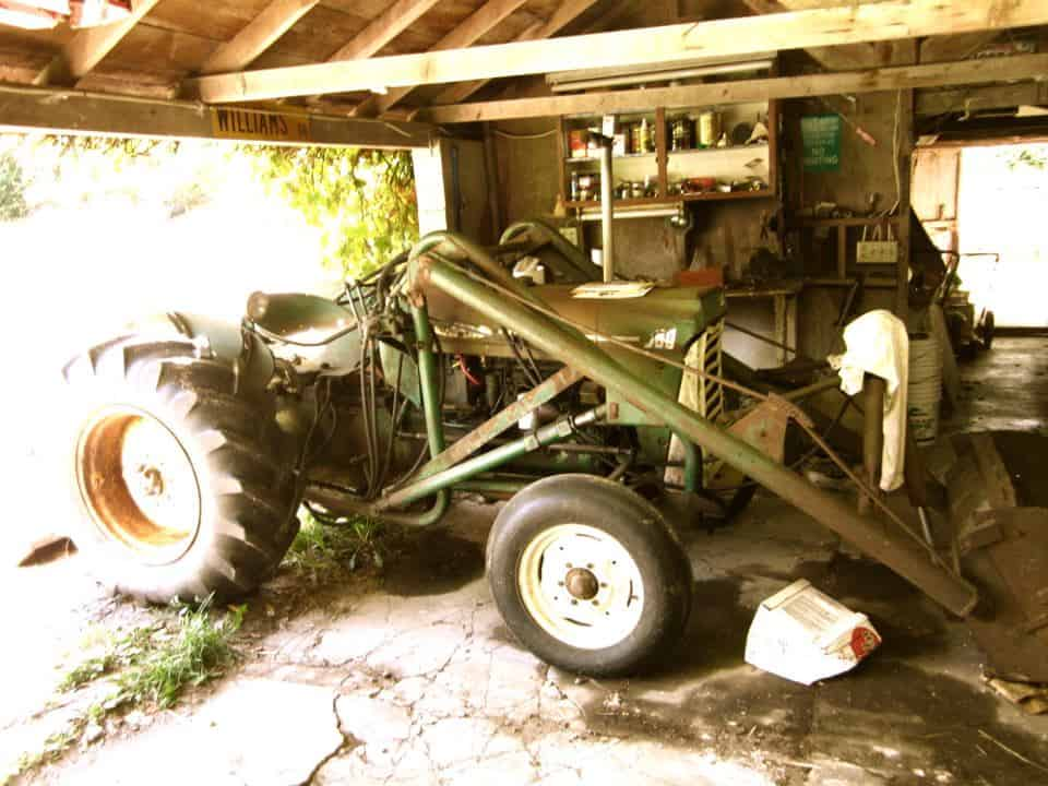 Dave's farm tractor, an old Oliver