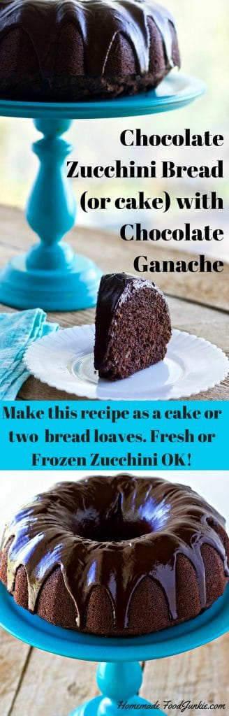 Chocolate Zucchini Bread (or cake) rich, moist, fudgy and delicious!