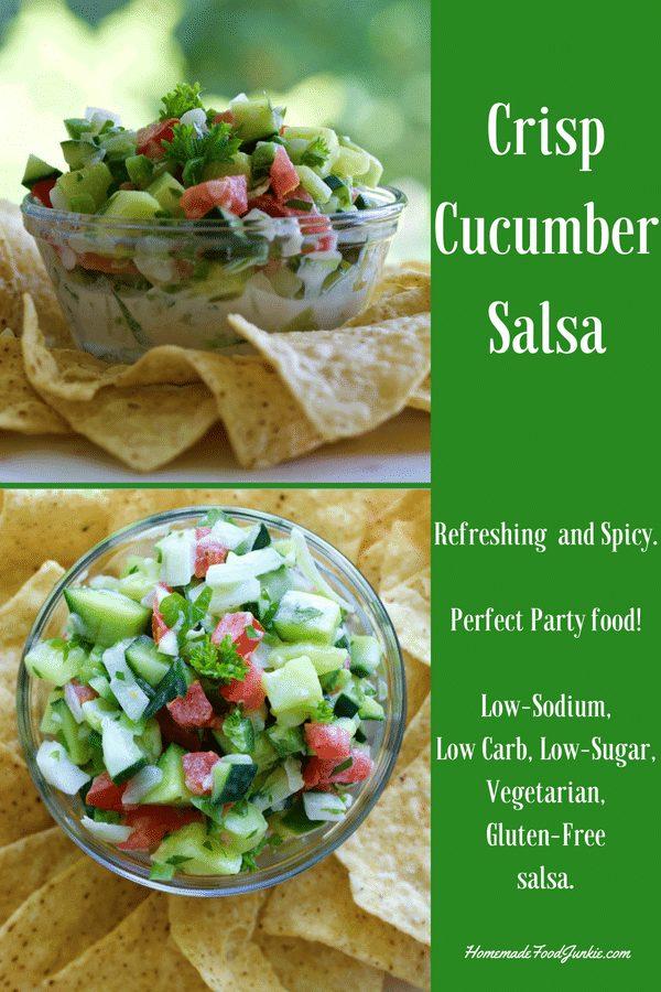 Crisp Cucumber Salsa Is A Refreshing&Nbsp;Low-Sodium, Low Carb, Low-Sugar, Vegetarian, Gluten-Free Salsa