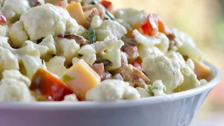 Cauliflower Pepper Salad