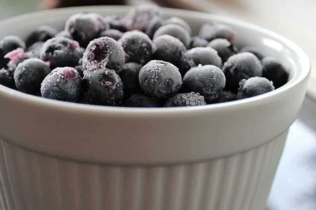 Frozen Blueberries are little health candies! www.homemadefoodjunkie.com