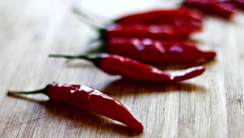 Spicy Hummus Dip uses Bangkok Peppers