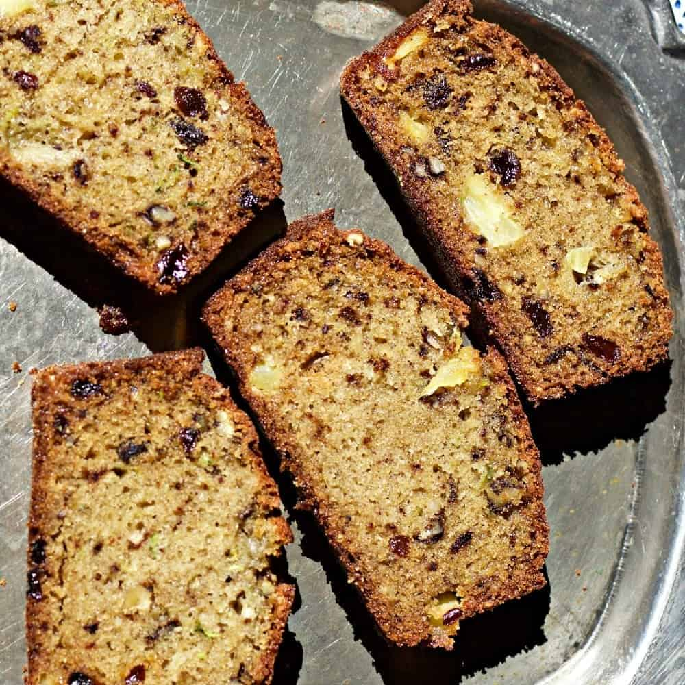 Zucchini Pineapple Bread Is Dairy Free, Healthy And Delicious!