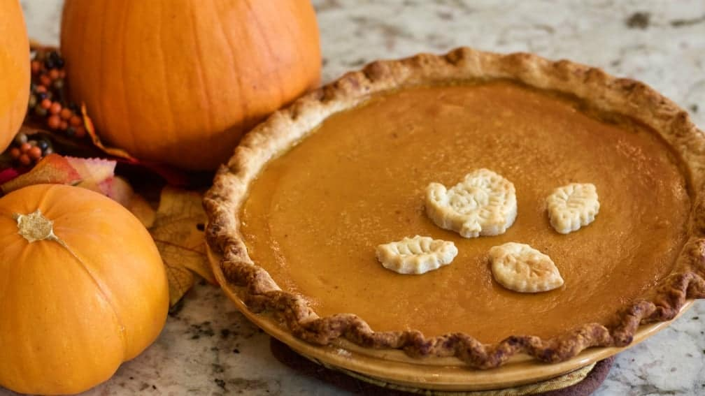 Pumpkin Pie with Fall decor
