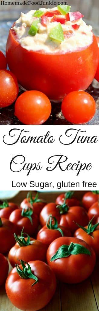 Tomato Tuna Cups Recipe low sugar, gluten free http://Homemadefoodjunkie.com