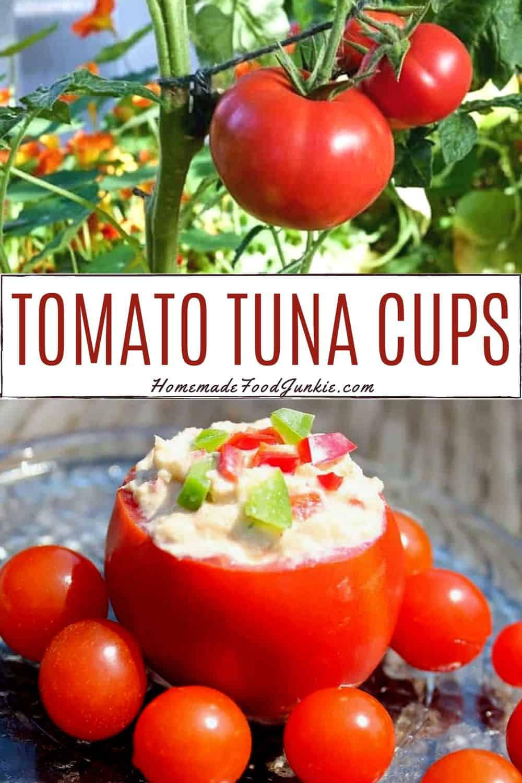 tomato tuna cups-pin image