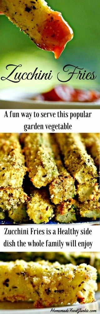 Zucchini Fries recipe. A fun way to eat your veggies.
