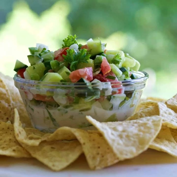 cucumber salsa and chips