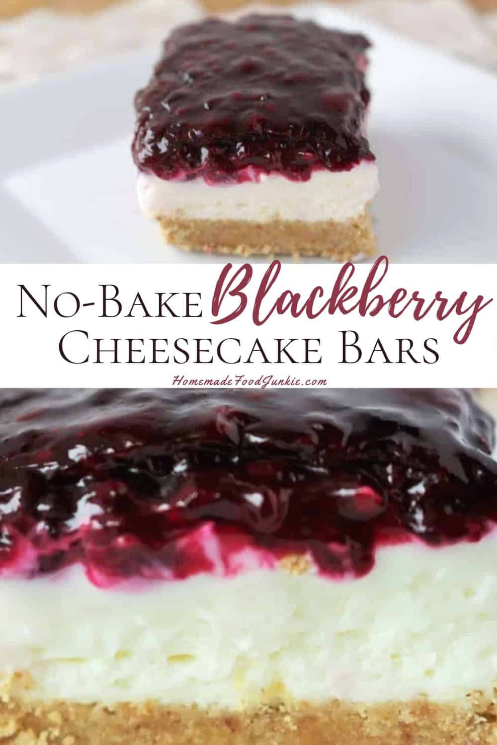 no-bake blackberry cheesecake bars-pin image
