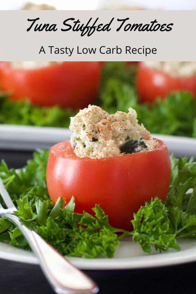 Tuna Stuffed Tomatoes-Pin Image