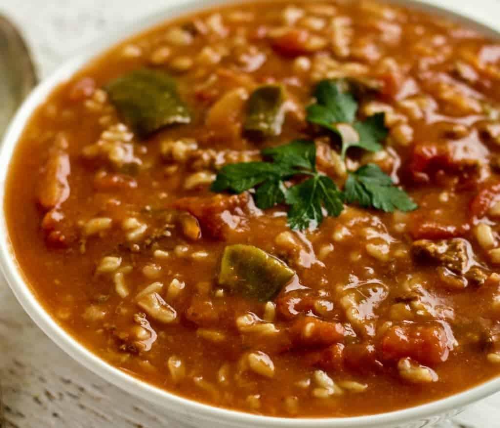 Crock pot Pepper Soup is a filling, light meal