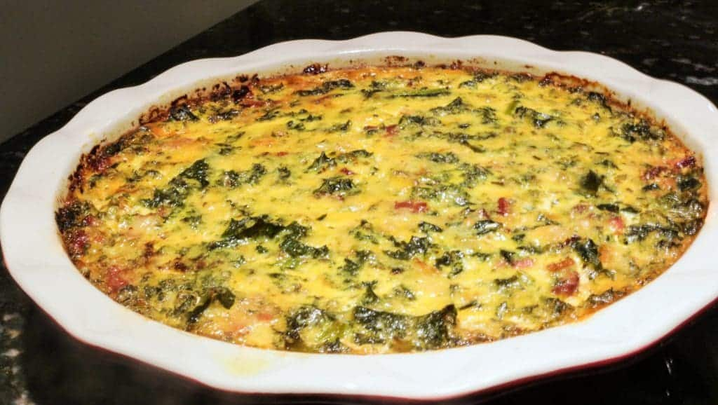 Crustless Bacon Quiche