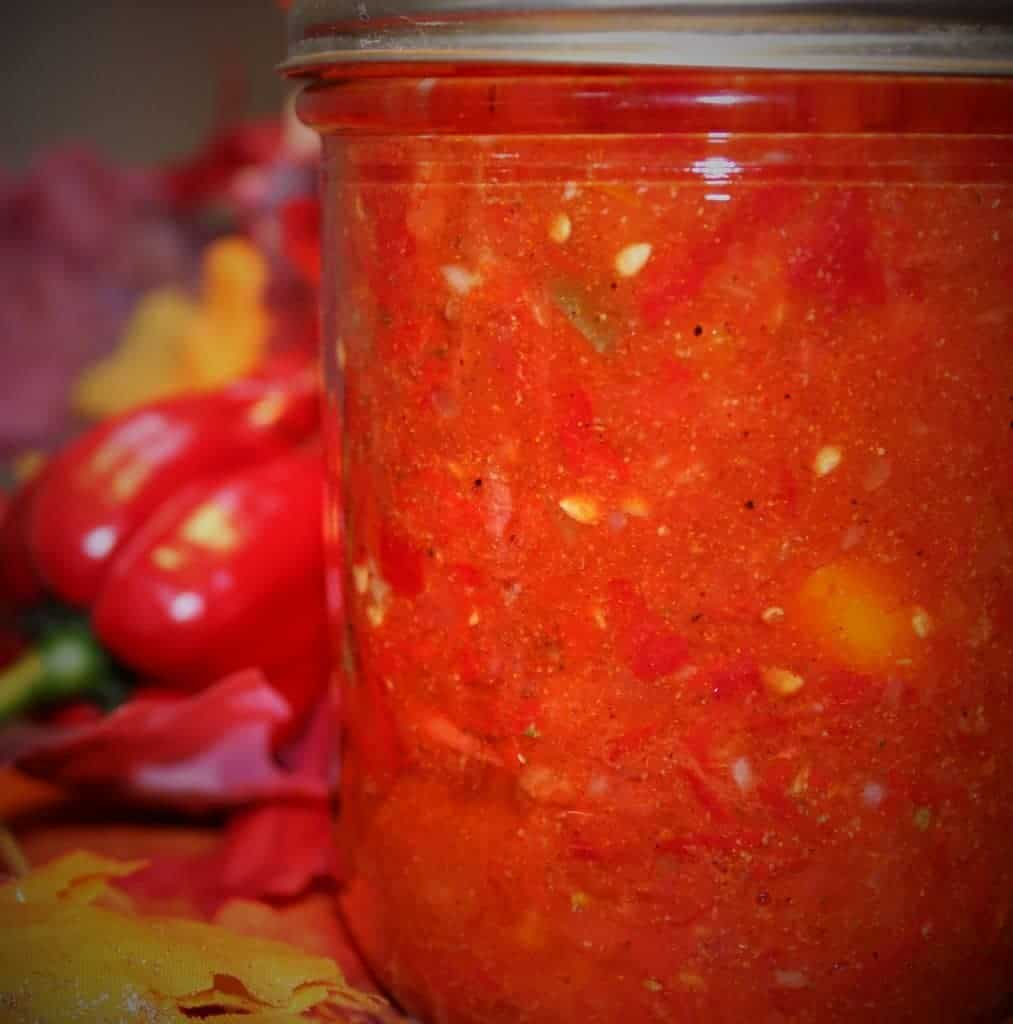 Fresh tomato Salsa to can