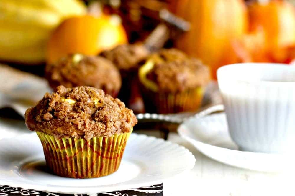 Homemade Pumpkin Cream Cheese Muffins