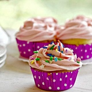 Simple White Cake or Cupcakes
