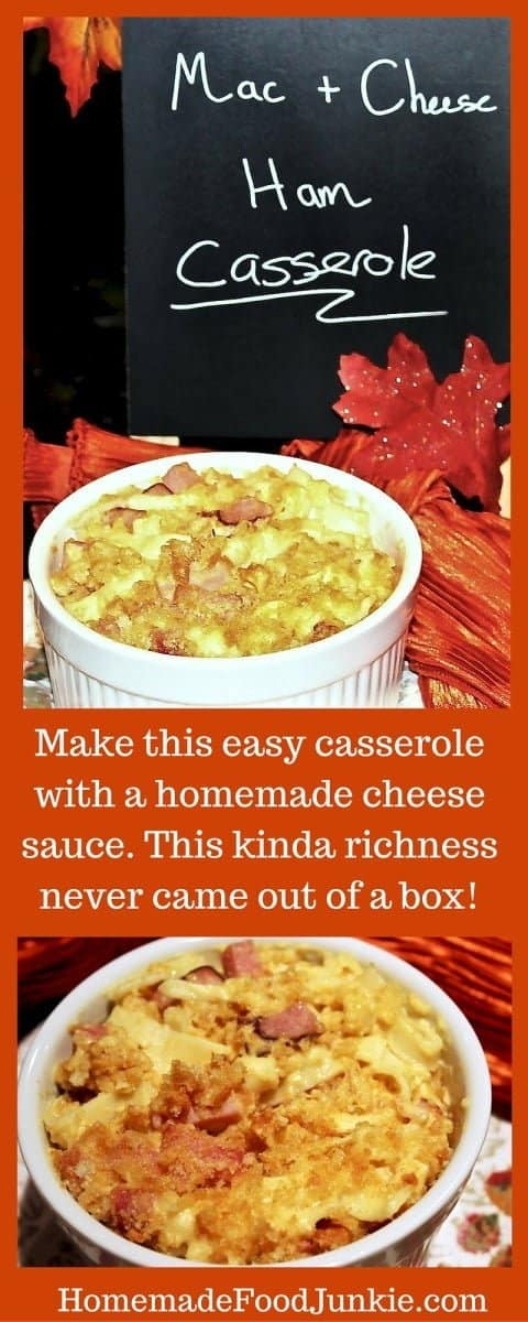 Mac N Cheese Ham Casserole