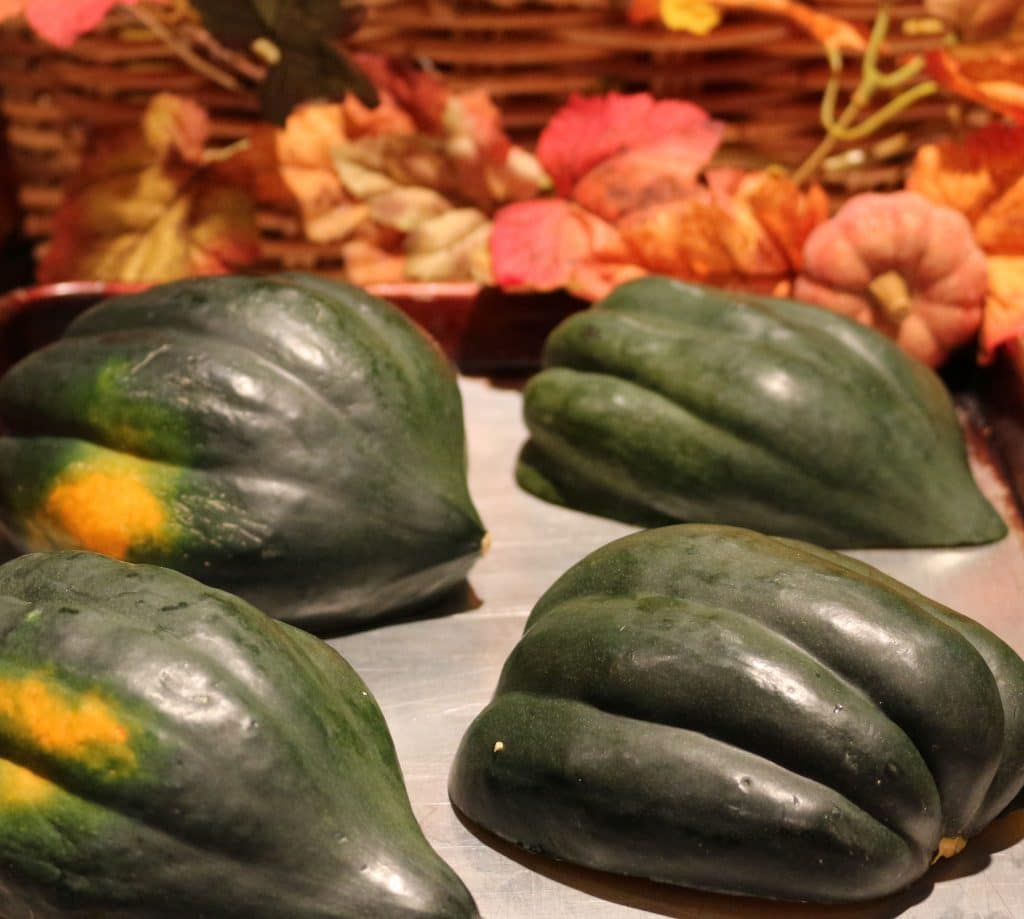 Easy Baked Acorn Squash, cut it in half. Its ready to bake!