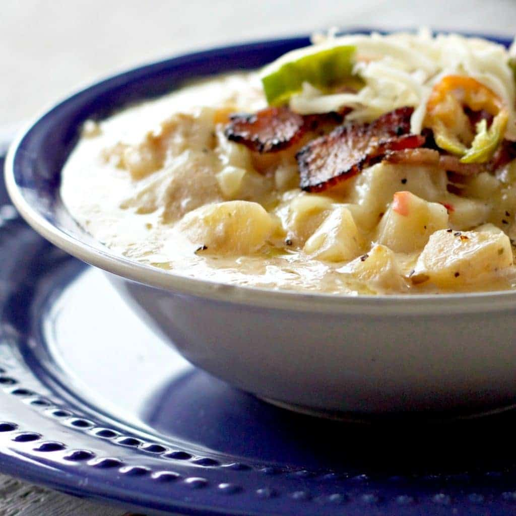 Loaded baked potato crock pot soup