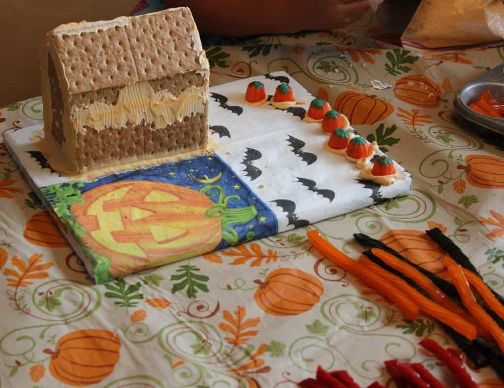 making a haunted house. Kids love this project. Recipe for Royal icing included.