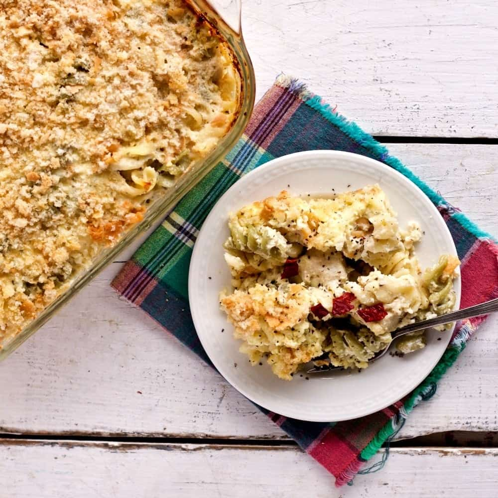 Three Cheese Pasta Chicken Bake