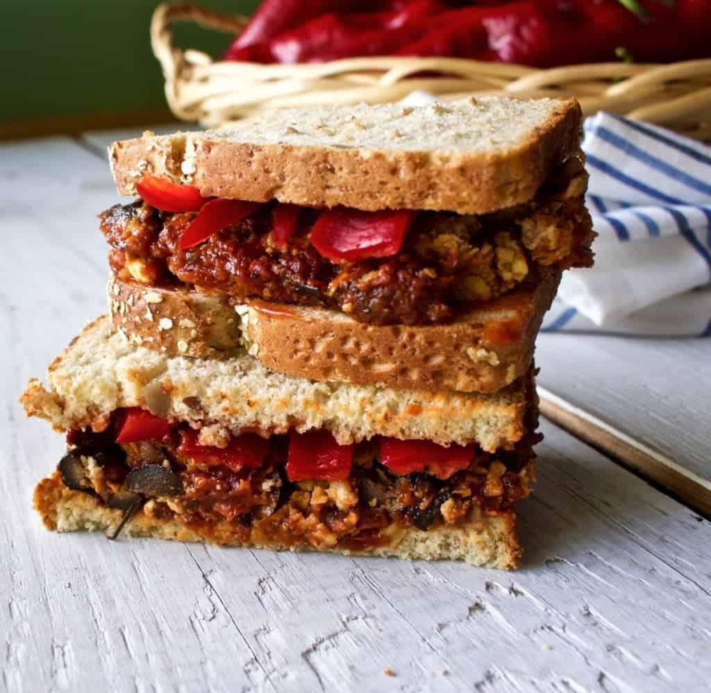 Italian Stuffed meatloaf Sandwich
