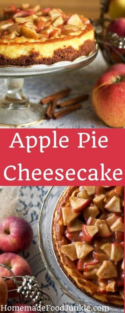 Apple Pie Cheesecake PIN IMAGE: