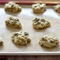 Fresh baked Creamy Chocolate Cookies on a baking sheet