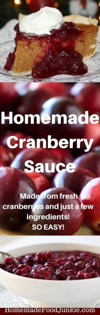 Homemade Cranberry Sauce This is a very good sauce to fall in love with any time you have access to natural, organic cranberries. This  Low Fat, Low Sodium, Vegan, Vegetarian, Dairy Free, Gluten-Free sauce is excellent as a pie or ice cream topping, alone, or as a side to a holiday dinner. Absolutely divine!